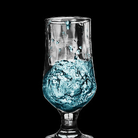 Simple by Abdul Rauf Chaudhry - Digital Art Things ( water, chaudhry, blue, glass )