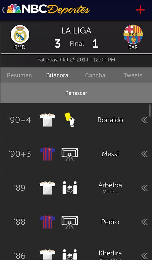 NBC Deportes - screenshot