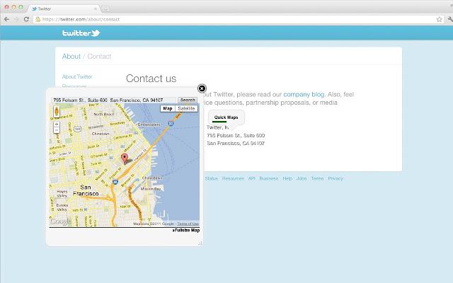 Quick maps chrome web store obtn una google maps caja a cada direccin en un sitio o marca el nombre de un lugar haz clic derecho para verlo en la mapa gumiabroncs Choice Image
