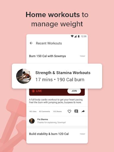 Calorie Counter,  Home Workout & Weight Loss Plans screenshots 4