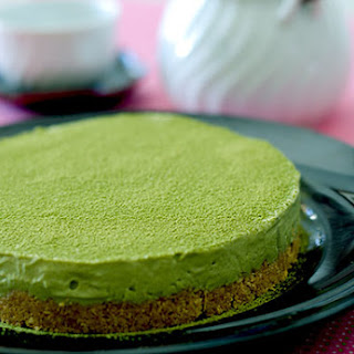 Unbaked Green Tea Cheesecake (Diabetic-Friendly, Gluten-Free)