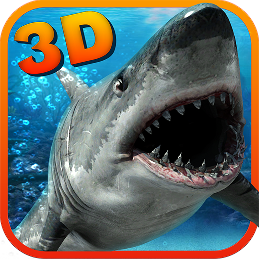화이트 상어 복수의 3D 模擬 LOGO-玩APPs