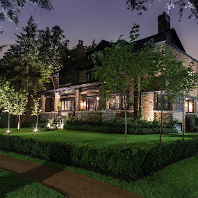 Dream Home by Ralph Sobanski - Buildings & Architecture Homes ( home, mansion, canada, residential, toronto, night, rosedale )