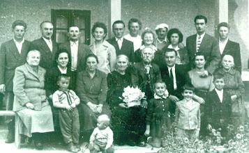 Photo: 1960 Pádár Mátyás és Kovács Erzsébet aranylakodalma a gyermekeikkel