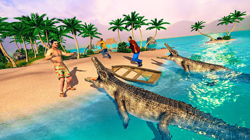 Télécharger gratuit Hungry Crocodile Attack Simulator: Crocodile Games APK MOD 2