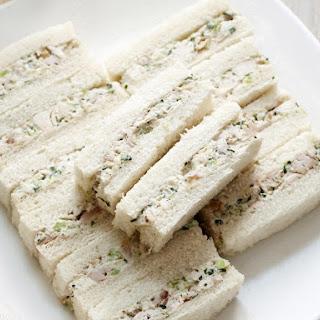 Chicken Salad Finger Sandwiches.
