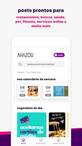 Ahazou - posts prontos para suas redes sociais 7.12.5 screenshots 1