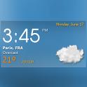 Digital clock weather theme 1 icon