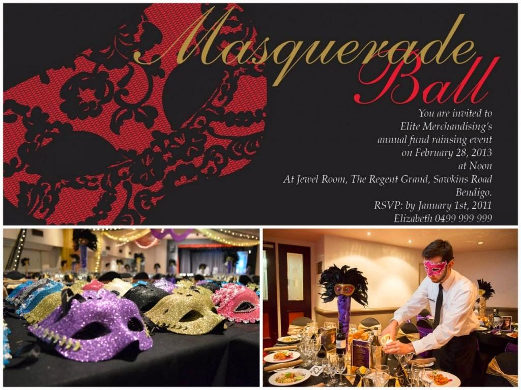Impressive Invitations Masquerade Corporatre Party Events