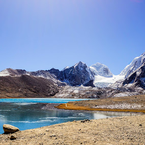 Gurudongmar Lake by D K - Landscapes Waterscapes ( mountain, gurudongmar, snow, india, lake, travel, sikkim )