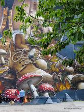 Photo: Glasgow 2014. Mural, Ingram Street Car Park