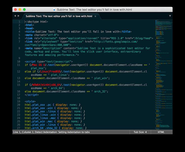 Phần mềm soạn thảo lập trình Sublime Text