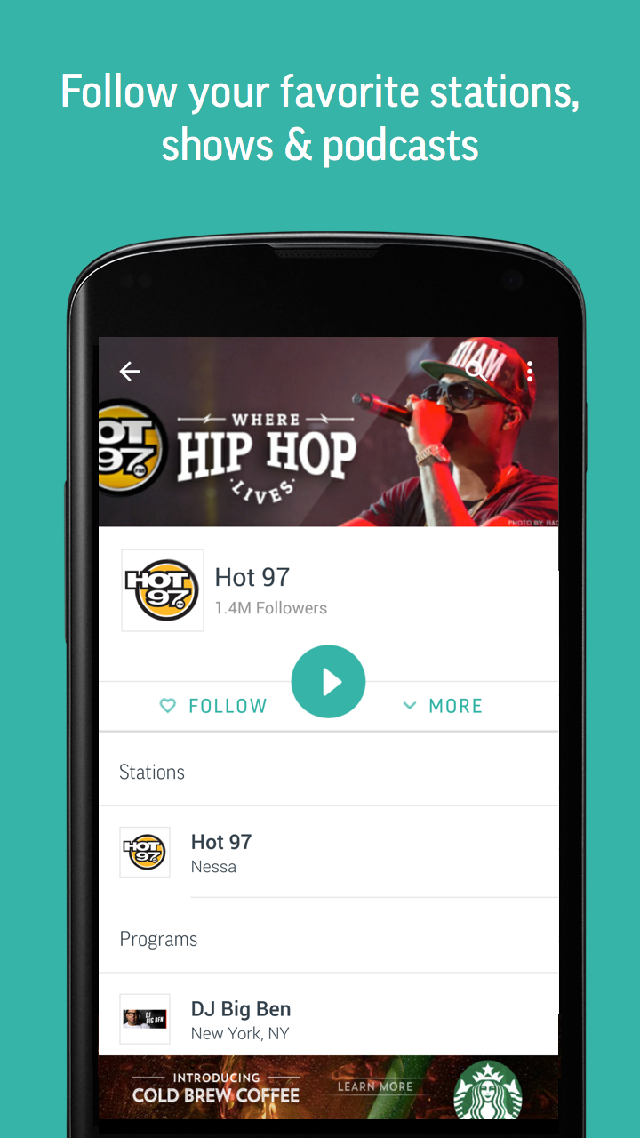 TuneIn Radio - Radio & Music screenshot #5