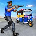 Police Tuk Tuk Rickshaw Gangster Chase Games icon