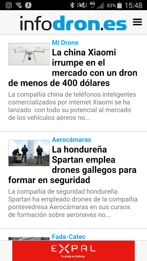 infodron.es- screenshot