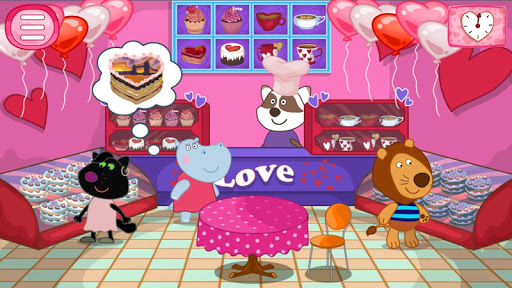 Cooking games: Valentine's cafe for Girls  screenshots 1