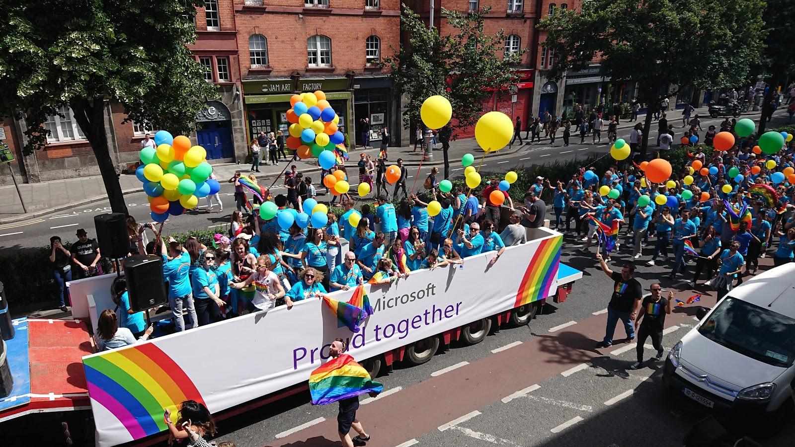Microsoft in Dublin Pride 2017
