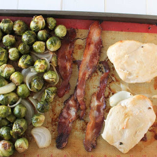 Maple Bacon Chicken and Brussels Sprouts Sheet Pan Dinner Recipe