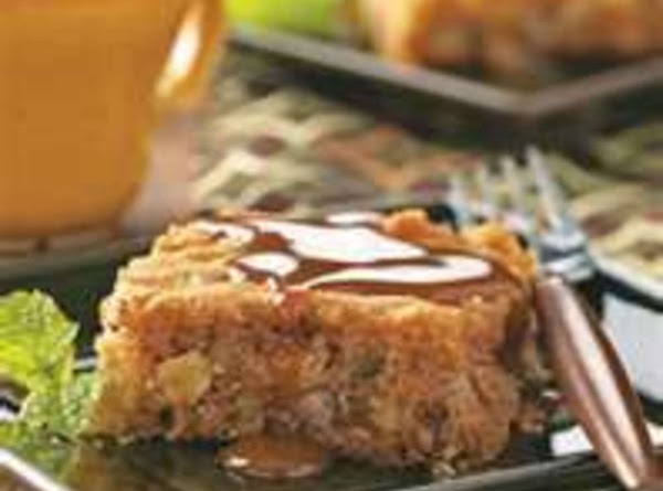My Best Old-fashioned Apple Cake With Caramel Sauce Recipe