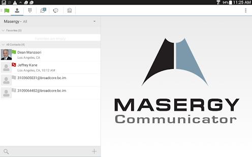 Masergy Communicator Tablet screenshot