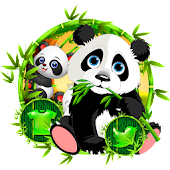 Green Cute Panda Theme Android APK Download Free By Fancy Theme Palace