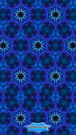 Kaleidoscope Eye-Colorful Blue