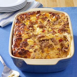 Cheese Sausage Strata Recipe