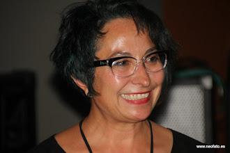 """Photo: 28J Huesca. 26.06.2015 Sandra Blasco y Amparo Bella. Presentación documental """"Transiciones Feministas"""" Amparo Bella"""