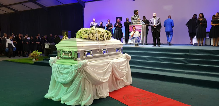 The funeral of Siyasanga Kobese in Queenstown.