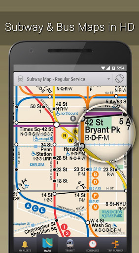 Bajar Subway Map De Ny.Mytransit Nyc Subway Bus Rail Mta Aplicaciones En Google Play