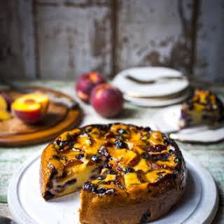 Peach & Blueberry Pound Cake.