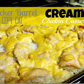 Cracker Barrel Copy Cat Creamy Chicken and Rice Casserole