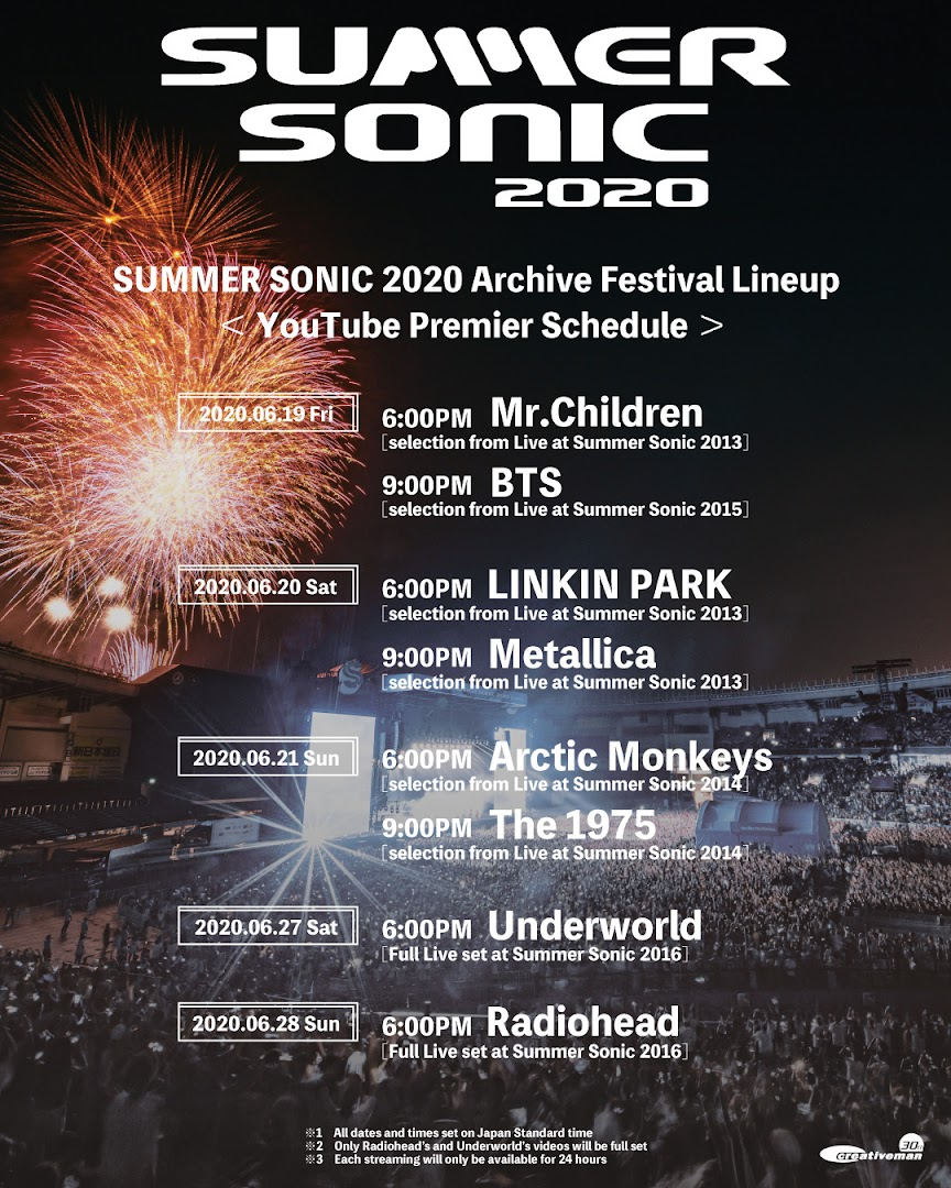 Summer Sonic 2020 Festival Schedule By BTS BOMB