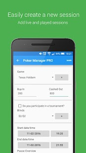 Poker Manager - Poker Tracker- screenshot thumbnail
