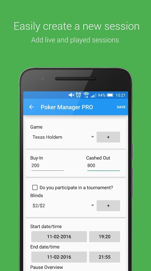 Poker Manager - Poker Tracker- screenshot