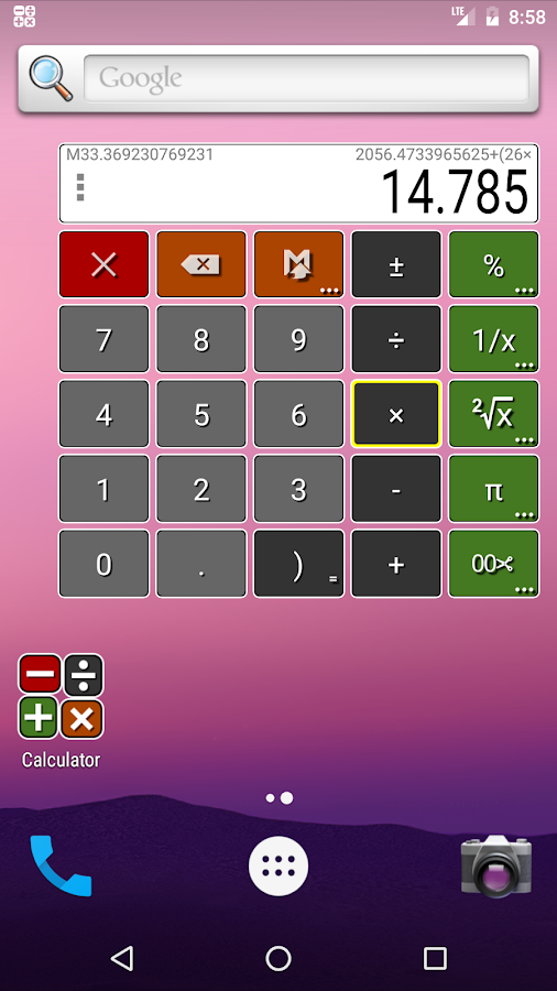 Floating Calculator- screenshot