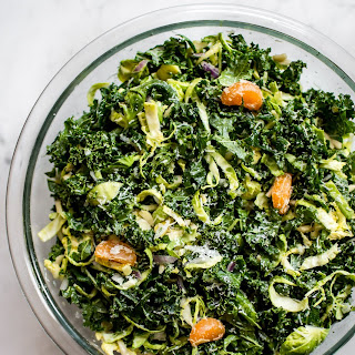 Shredded Kale and Brussels Sprouts Salad.
