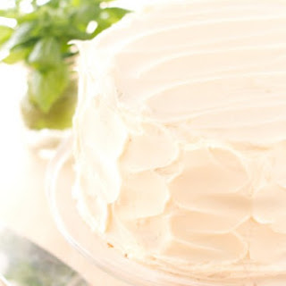 Basil Mint Cake with a Vanilla Buttercream Frosting