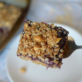 Peanut Butter and Jelly Chickpea Coffee Cake