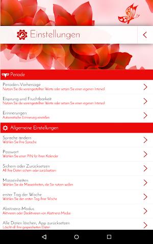 android Perioden-Tagebuch - Kalender Screenshot 20