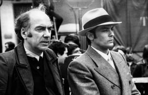 acques Deray et Alain Delon sur le tournage de Borsalino