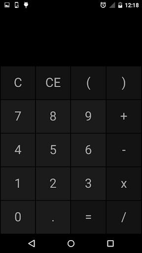 Calculator Black Elegant