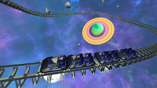 Intergalactic Space Virtual Reality Roller Coaster