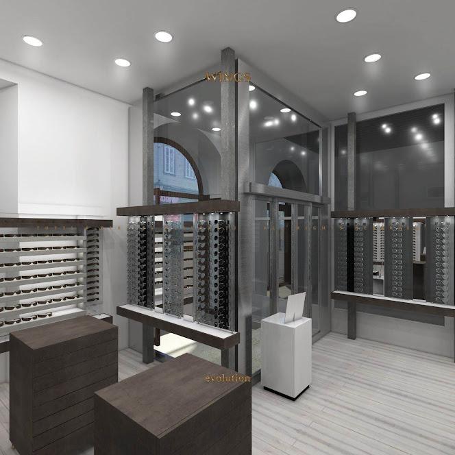 thiết kế cửa hàng kính mắt chuyên nghiệp