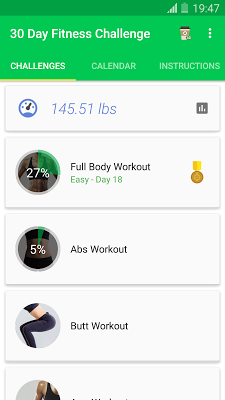 30 Day Fitness Challenge - Lose Weight Coach - screenshot