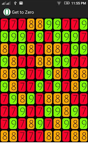 Get to Zero puzzle game