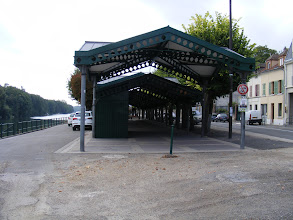 Photo: These covered structures mark the location of Les Halles, where a market has been held since the Middle Ages.