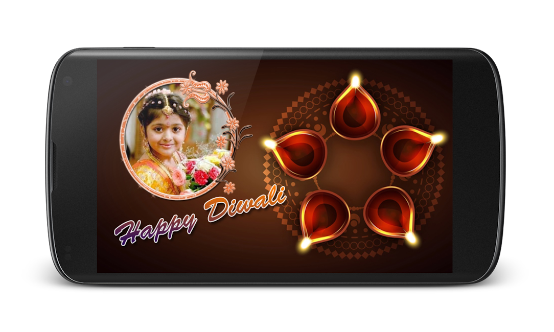 #1. Diwali Photo Greeting Frames (Android)