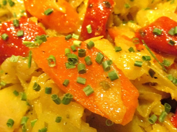 Smothered Cabbage With Carrots & Sweet Peppers Recipe