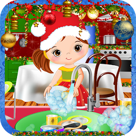 Christmas Kitchen Cleaning-Hidden Objects Cleaning